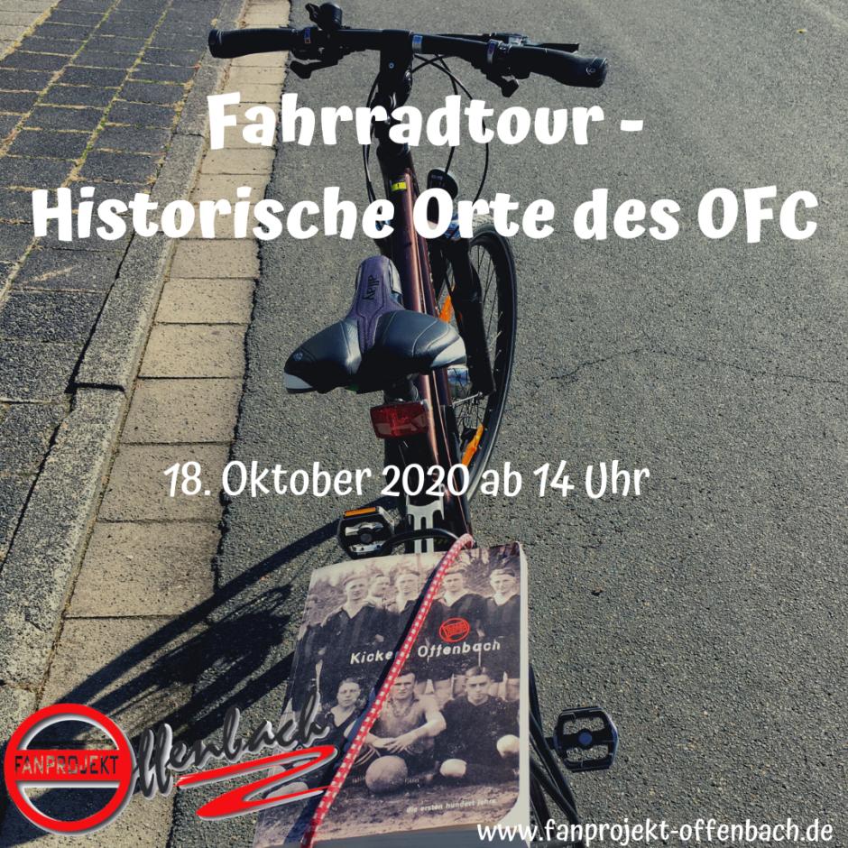 Fahrradtour zu historischen Orten. Ankündigung